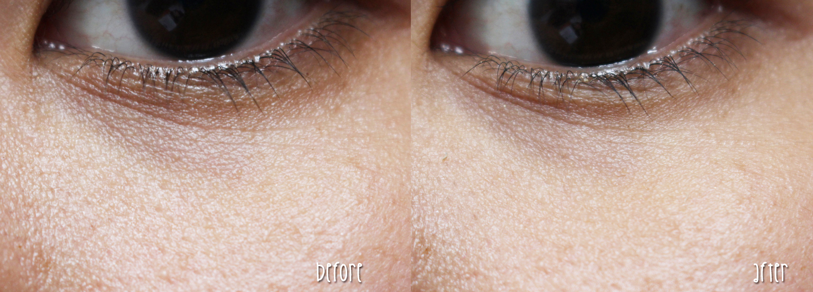 The Body Shop All-in-One Tinted Concealer + Primer Instablur Eye Before and After