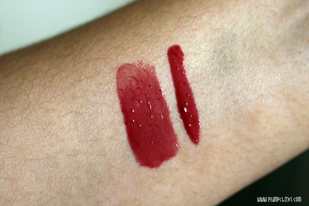 Forever21 Lip Gloss in Burgundy  Arm Swatch