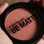 Drugstore Finds: City Color BE MATTE Blush in Papaya Review!