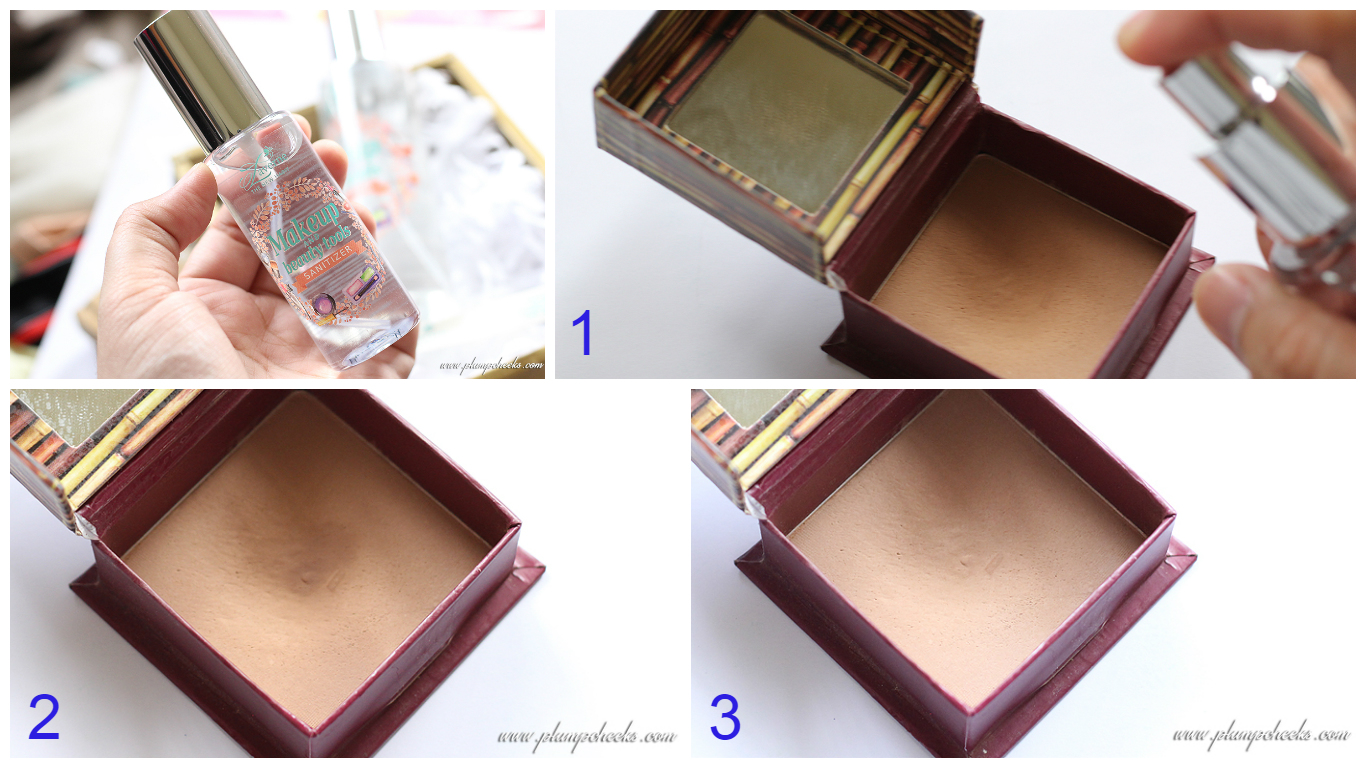 how to sanitize makeup to sell